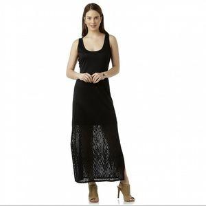 Metaphor Maxi Dress, printed sheer overlay!